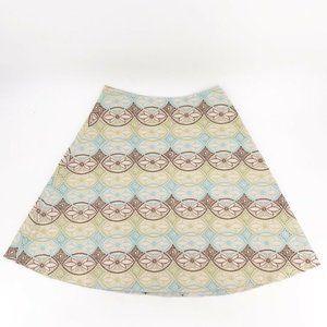 Josephine Chaus Womens A Line Skirt Multicolor 12P